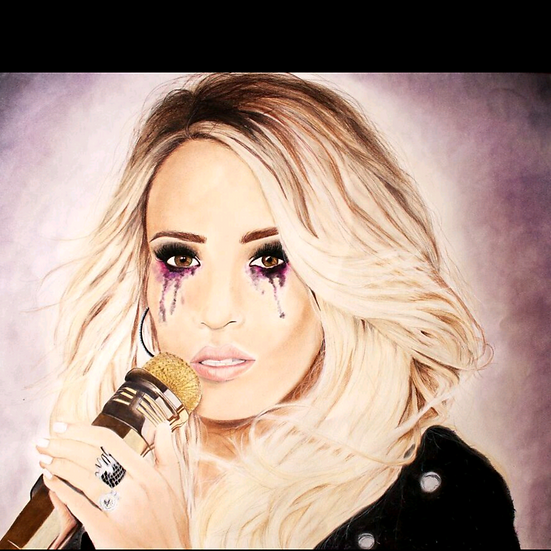""" Cry Pretty Carrie Underwood"" original artwork"