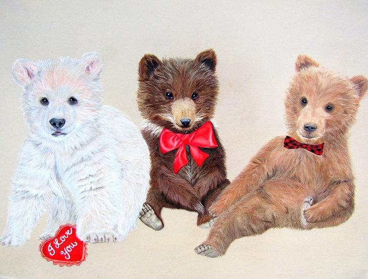 """ Teddy Love "" original artwork"