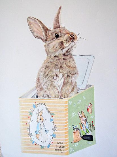 """ POP Goes the Rabbit"" original artwork"