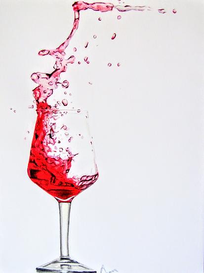 """ Red Red Wine"" original artwork"