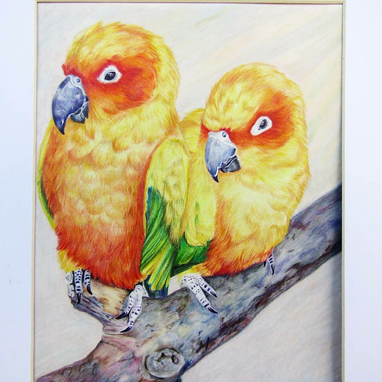 """ Birds of a feather"" original artwork"