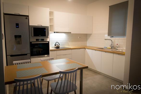 Κουζίνα PVC THERMOFOIL Με Σκαμμένο Χερούλι