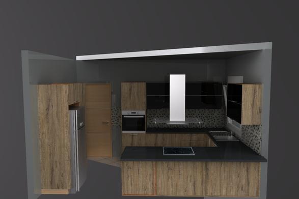 3d σχεδιασμός κουζίνας με χρήση φωτορεαλισμού
