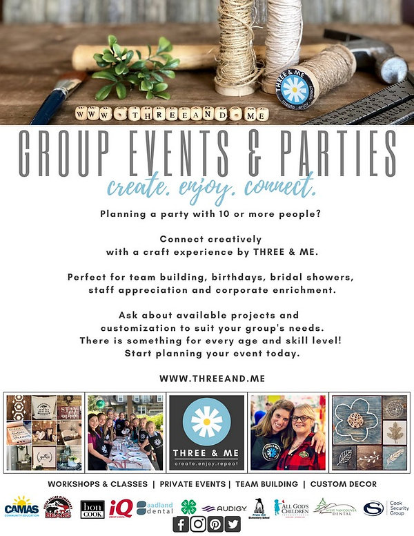group events and art parties, corporate team building, kids art themed parties