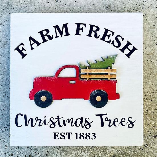 Shop | Christmas Truck Mini Sign