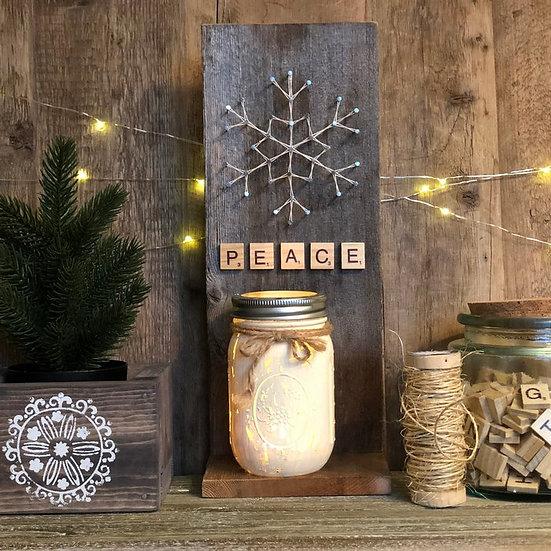 Rustic Candle Shelf