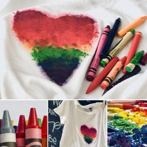 Online Art | Crayon Printed T-Shirt