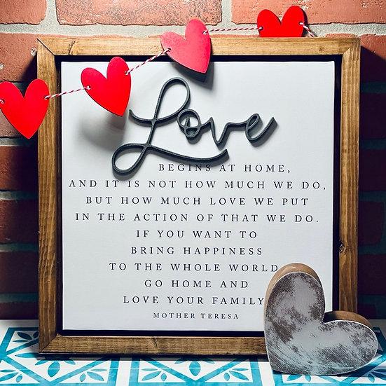 Shop   Love sign
