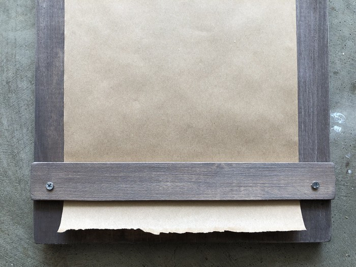 rustic wood and recycled paper notepad by www.threeand.me