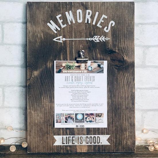 Summer Camp | Memory Board