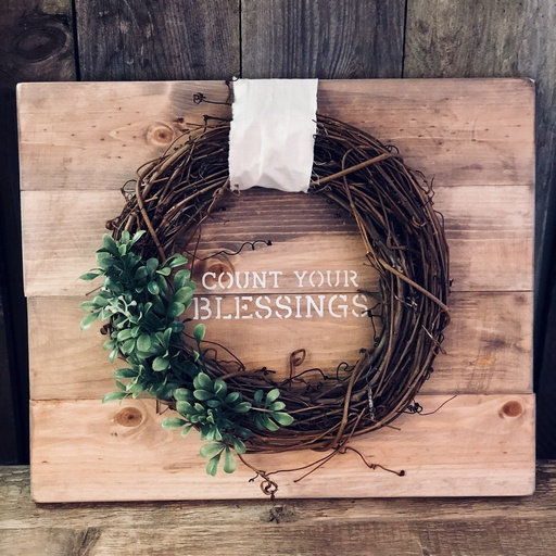 Wreath on a Pallet