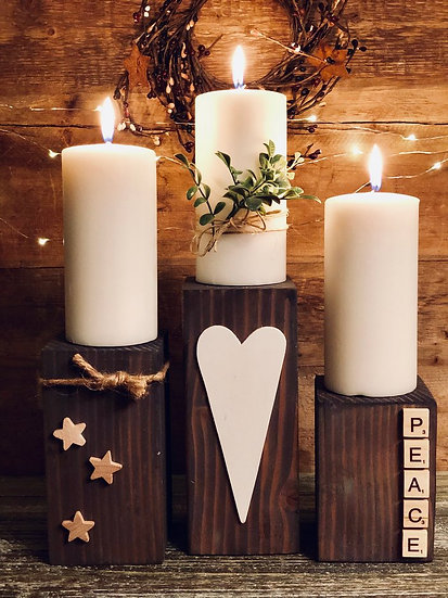 Pillar Candles for Christmas