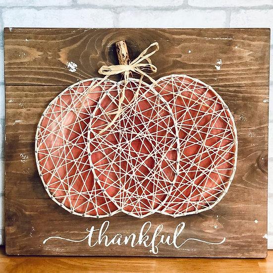 DIY Art Kit |  String and Nail Pumpkin
