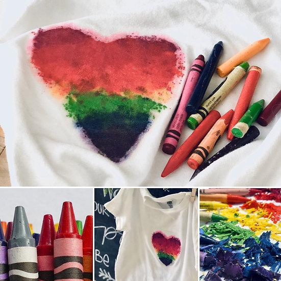 Online Art |Crayon Printed T-Shirt