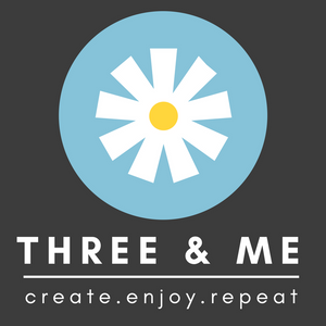 www.threeand.me arts and crafts blog, parties and workshops
