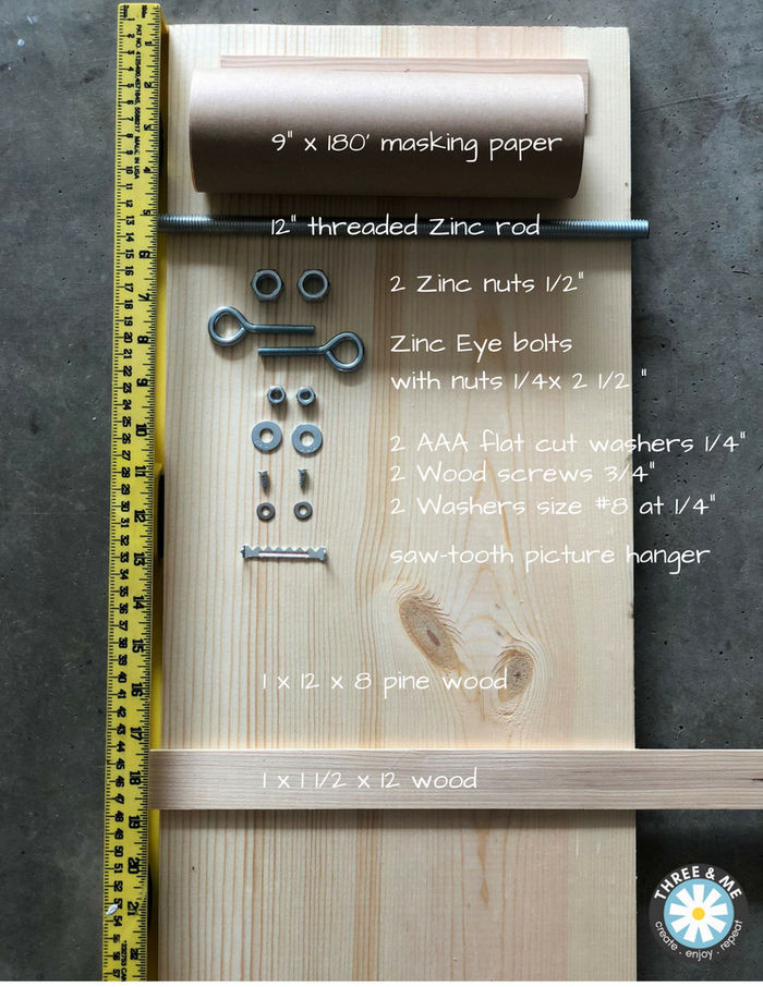 wooden notepad by www.threeand.me