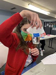 A Dialectic-level student works on a chemistry lab.