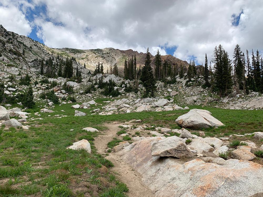 Silver Glance Lake trail