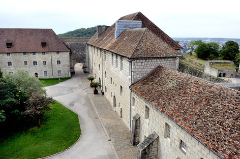 In Besancon, the Prefecture of the Doubs, sixteen-year-old Resistant, Henri Fertet, a member of the Maquis, awaited death by firing squad at La Citadelle (buildings shown here).