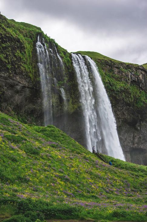 Huge waterfalls . . .