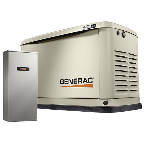 Generac 7030 9kw Guardian Generator with 100A 16 Circuit Transfer Switch