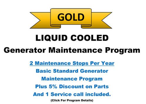Liquid Cooled Gold Pkg: 2 Maintenance Stops/Y