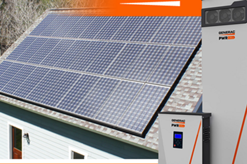 Solar panels and battery backup