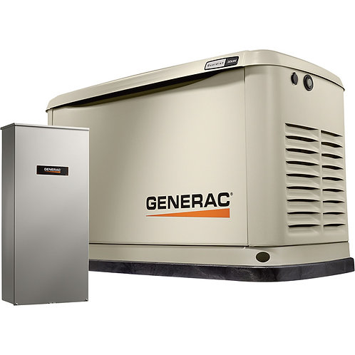 Generac 7039 20kw Guardian Generator with 200A SE Transfer Switch