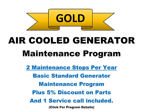 Air Cooled Gold Pkg: 2 Maintenance Stops/Year