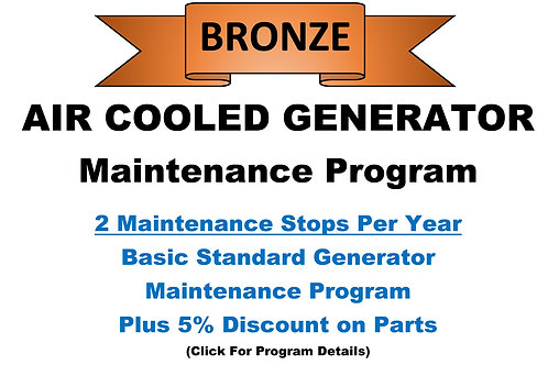 Air Cooled Bronze Pkg: 2 Maintenance Stops/Year