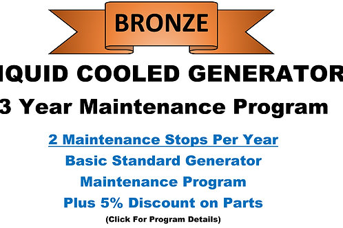 Liquid Cooled Bronze 3 Year Program