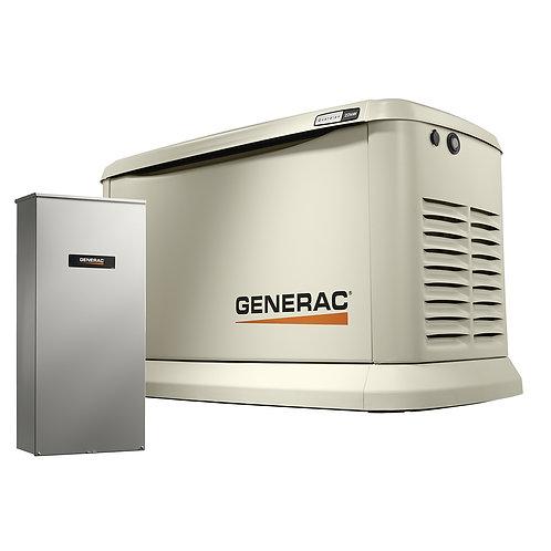 Generac 7043 22kw Guardian Generator with 200A SE Transfer Switch