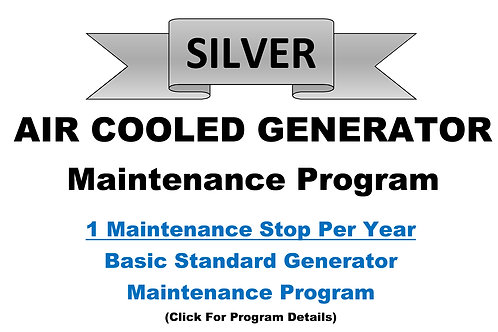 Air Cooled Silver Pkg: 1 Maintenance Stop/Year