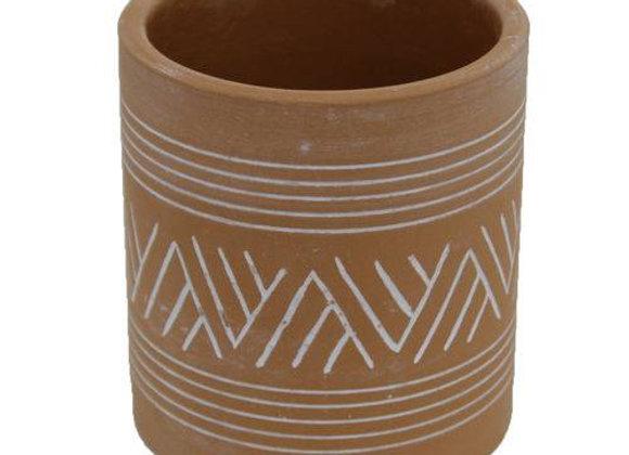Vaso Cerâmica - decoração indigena