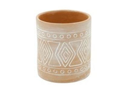 Vaso Cerâmica - Decoração Indígena