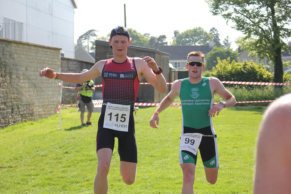 Luke Roberts Crossing the finish line