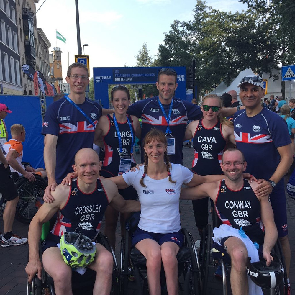 Andy working with GB Paratriathlon
