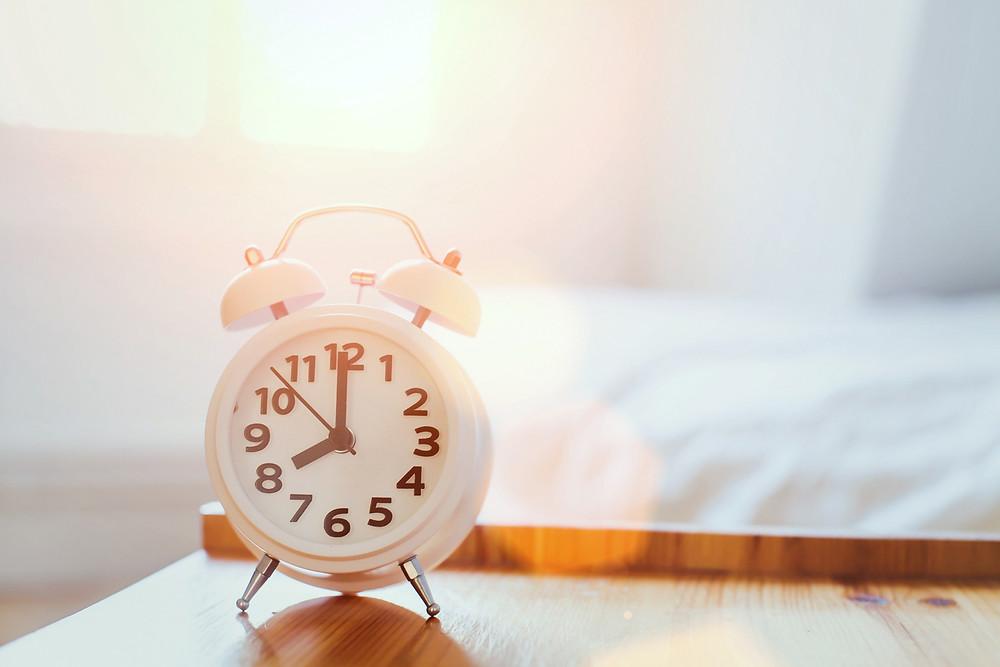 Alarm clock at sunrise