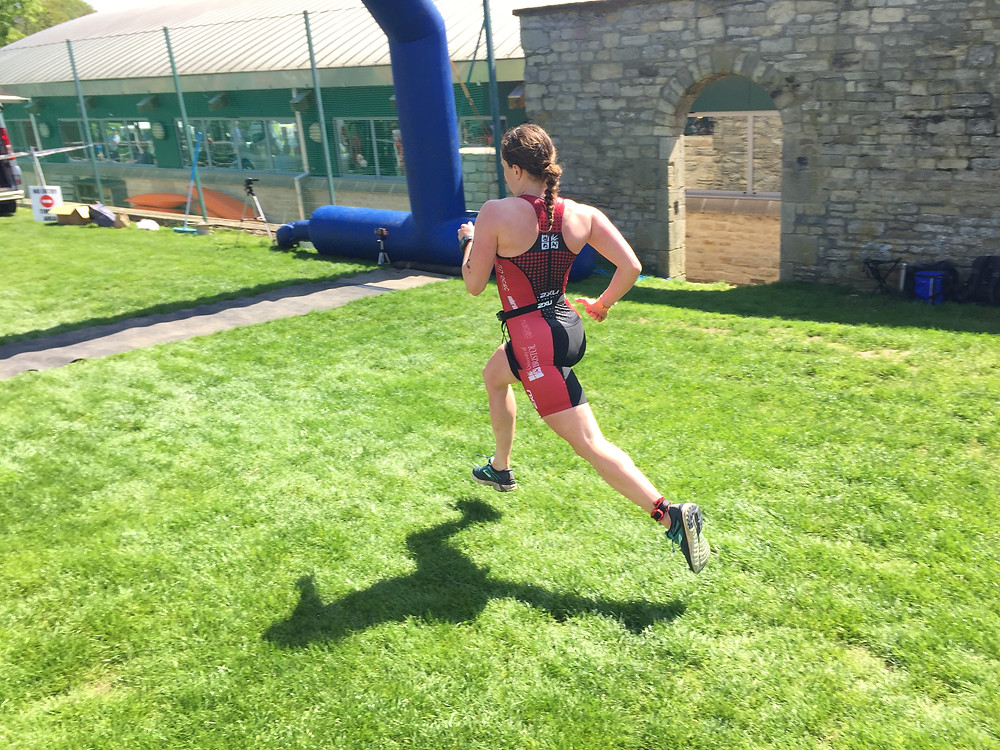 Kate Mactear finishing strongly