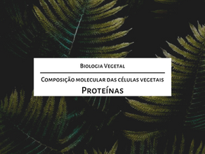 Estude para o mestrado comigo: A composição molecular das células vegetais – Proteínas
