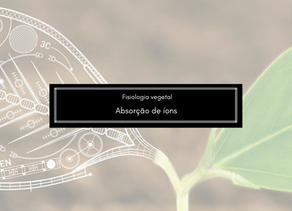 Fisiologia Vegetal: Absorção de íons