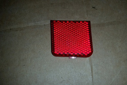 84-92 Lincoln Mark VII interior door panel reflector-Driver side-used