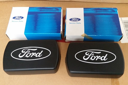 Marchal 750 Fog Lamp covers with Ford Oval-pair-New Old Stock