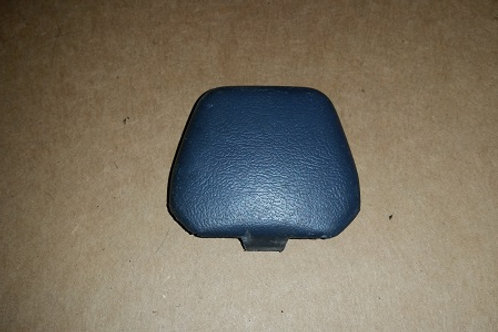 83-86 Mustang Charcoal Gray B pillar shoulder belt bolt cover-used