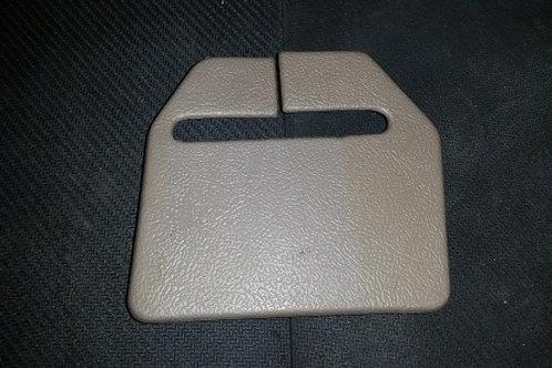 90-92 Titanium gray RH rear seat belt trim panel-used
