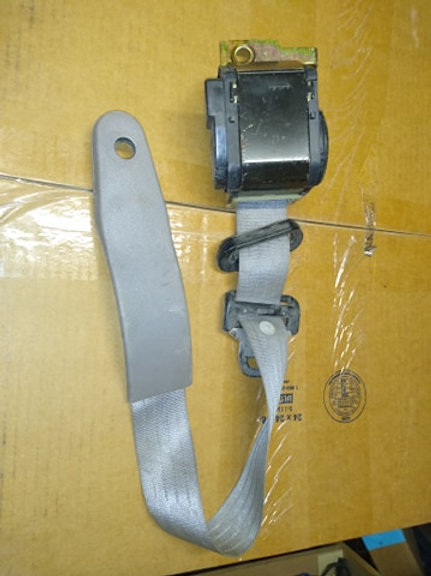 1990-92 Mustang Driver side retractable seat belt assembly-Titanium Gray-used