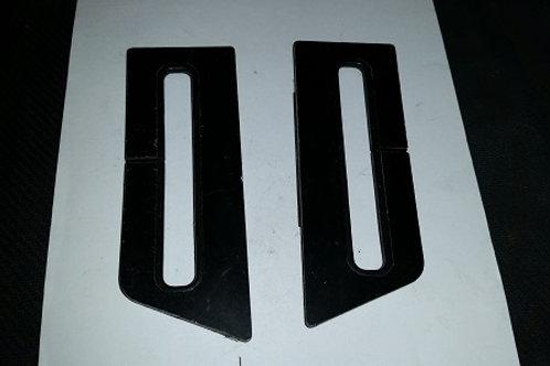 84-87 Lincoln Mark VII shoulder seat belt trim-used-pair