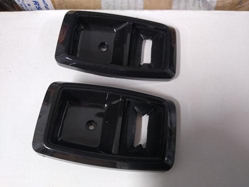 79-93 Mustang Interior Door handle bezel w/ gasket in Black-Pair-reproduction