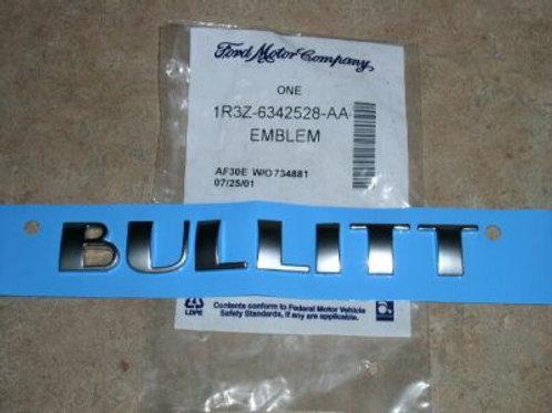 2001 Bullitt Mustang Trunk emblem