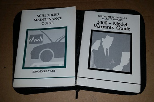 2000 Ford Maintenance & warranty Guide with case-used
